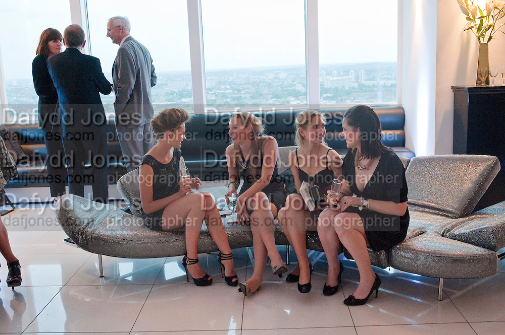 ALEX EVANS; BEANY GAY; LYDIA ZACHARIS; LISA FELDMAN,, THE launch of Coutts london jewelry week. Altitude 360. Millbank.  9 June 2009