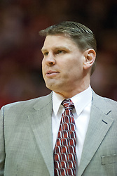 29 December 2006: Coach Porter Moser. The Salukis of Southern Illinois University beat the Redbirds 68-49 at Redbird Arena in Normal Illinois on the campus of Illinois State University.<br />
