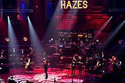 AMSTERDAM, 27-02-2021 , Concertgebouw<br /> <br /> Vanuit het Concertgebouw in Amsterdam een groot Hazes in huis meezingfeest georganiseerd onder de naam Een Rondje Hazes. Rachel Hazes is de initiatiefneemster van dit éénmalige evenement en verheugt zich op de online samenkomst op die avond. Dit jaar zou André 70 jaar zijn geworden. Foto: Patrick van Emst/Brunopress<br /> <br /> Op de foto:  Trijntje Oosterhuis