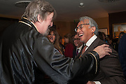 STEPHEN FRY; SIR DAVID TANG, Chinese New Year dinner given by Sir David Tang. China Tang. Park Lane. London. 4 February 2013.