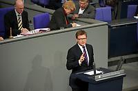DEU, Deutschland, Germany, Berlin, 27.02.2012:<br />Rede von Carsten Schneider, Haushaltspolitischer Sprecher der SPD-Bundestagsfraktion, während der Sitzung des Deutschen Bundestages zum zweiten Hilfspaket für Griechenland.