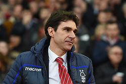 Nottingham Forest manager Aitor Karanka during the Sky Bet Championship match at the City Ground, Nottingham.