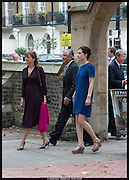 LADY ANNABEL ASTOR; LORD WILLIAM ASTOR; FLORA ASTOR, Memorial service for Mark Shand.  . St. Paul's Knightsbridge. September 11 2014.