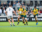 Australia second-row Lukhan Lealaiaulolo-Tui goes on a charge during the World Rugby U20 Championship  match England U20 -V- Australia U20 at The AJ Bell Stadium, Salford, Greater Manchester, England on June  15  2016, (Steve Flynn/Image of Sport)