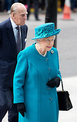 The Duke of Edinburgh and Queen Elizabeth arrives at the new National Cyber Security Centre in London for the opening ceremony on Tuesday 14th February, 2017. Picture dated: Tuesday February 14th February, 2017. Photo credit should read: Isabel Infantes/EMPICS Entertainment.