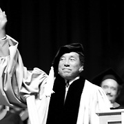 Smoky Robinson says good bye to the  graduates at  the Berklee's Commencement 2009. Robison received an honorary degree for his achievements and influence in music.