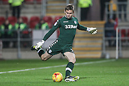 Robert Green (Leeds United) takes a goal kick during the EFL Sky Bet Championship match between Rotherham United and Leeds United at the New York Stadium, Rotherham, England on 26 November 2016. Photo by Mark P Doherty.