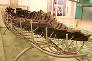 Israel, Sea of Galilee, Jesus? Boat. Old boat uncovered in the sea of Galilee, from the time of Jesus Christ Now on display at a museum at Kibbutz Ginosar on Lake kineret, January 2005