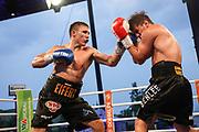 Boxen: SES Boxgala, Boxgala, Magdeburg, 05.06.2021<br /> WBO-Junioren-Weltmeisterschaft: Michael Eifert (GER) - Dustin Amman (GER)<br /> © Torsten Helmke