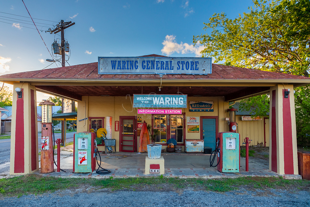Old country store in Waring, Texas.