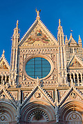 Il Duomo di Siena, the Cathedral of Siena, Italy.