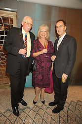 Left to right, BILL TIDY, BABS POWELL and ANGUS DEAYTON at a tribute lunch in honour of Michael Aspel hosted by The Lady Taverners at The Dorchester, Park Lane, London on 14th November 2008.