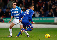 Photo: Daniel Hambury.<br />Crystal Palace v Reading. Coca Cola Championship.<br />20/01/2006.<br />Palace's Fitz Hall and Reading's Glen Little battle for the ball.