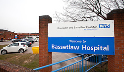 © Licensed to London News Pictures. 07/04/2013.Worksop, UK. Bassetlaw Hospital, Worksop..Four teenagers have been arrested in connection with the death of a 40-year-old man in Worksop town centre on Saturday night (6 April 2013)..It follows reports of an assault at around 7.30pm in Bridge Street, near its junction with Central Avenue and Ryton Street..The victim was taken to Bassetlaw District Hospital where he was pronounced dead..A murder inquiry is now underway. Formal identification of the victim has yet to take place and a post-mortem examination is due to be conducted to establish the cause of death. Four boys, three aged 15 and one aged 16, remain in custody where they will be questioned by officers today (Sunday 7 April 2013). A cordon is in place at the scene while forensic enquiries are carried out.    Photo credit : Tom Maddick/LNP