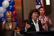 Dallas County sherif Lupe Valdez speaks during the Dallas County Democratic watch party in Dallas, Texas on November 8, 2016. (Cooper Neill for The Texas Tribune)