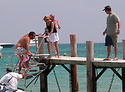 **EXCLUSIVE**.Joel Silver with his wife Karyn Fields and family at Club 55 Restaurant.St. Tropez, France.Thursday, July, 15, 2004.Photo By Celebrityvibe.com/Photovibe.com, New York, USA, Phone 212 410 5354, email:sales@celebrityvibe.com...