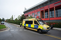 Football - 2019 / 2020 Premier League - Liverpool vs Chelsea<br /> A strong Police presence outside Anfield stadium.<br /> <br /> Credit: COLORSPORT/TERRY DONNELLY