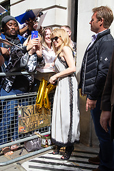 Kylie Minogue outside the BBC's Wogan House following an appearance on Radio 2. London, June 15 2018.