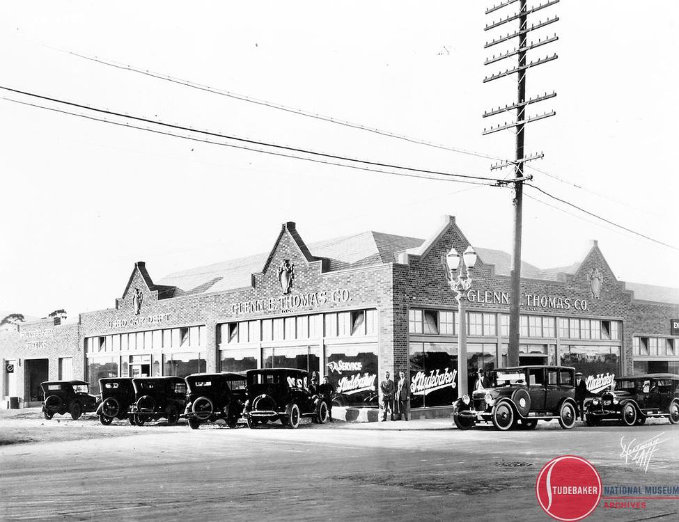 Studebaker Dealer Glenn E. Thomas, San Pedro or Long Beach, California, 1924.