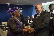 Ngozi Okonjo-Iweala, Chair<br /> Gavi, the Vaccine Alliance, USA and Jacob G. Zuma, President of the Republic of South Africa<br /> Presidency of South Africa at the World Economic Forum on Africa 2017 in Durban, South Africa. Copyright by World Economic Forum / Greg Beadle
