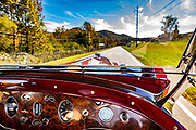 1929 Packard 626 Speedster Dual-Cowl Phaeton, photographed in Rabun Gap, Georgia.  A prototype, it's one of two in existence, and is valued at $1.2 million dollars.