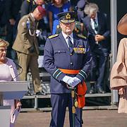 NLD/Den Haag/20180831 - Koninklijke Willems orde voor vlieger Roy de Ruiter, Minister van Defensie Ank Bijleveld, Koning Willem - Alexander, Koningin Maxima