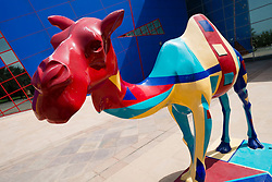 camel statue in Childrens City in Creek Park in Dubai United Arab Emirates UAE