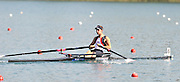Banyoles, SPAIN, GBR LM1X, Adam FREEMAN-PASK, at the start of her Repechage for the Lightweight Men's single sculls. FISA World Cup Rd 1. Lake Banyoles  Saturday, 30/05/2009   [Mandatory Credit. Peter Spurrier/Intersport Images]