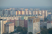 Europe, Slovakia, capitol city - Bratislava. Endless prefab apartment blocks of Petrzalka suburb
