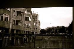 Alcune case popolari nella zona 167 di Ostuni. Sono le ultime case popolari costruite in ordine temporale, come edilizia popolare.