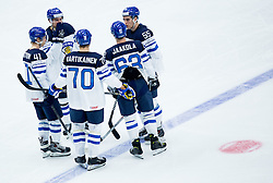 Players of Finland during Ice Hockey match between USA and Finland at Day 1 in Group B of 2015 IIHF World Championship, on May 1, 2015 in CEZ Arena, Ostrava, Czech Republic. Photo by Vid Ponikvar / Sportida