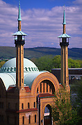 Irem Shrine and mountains in Wilkes-Barre, Pennsylvania