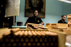 """Workers make Cohiba cigar at the """"El Laguito"""" factory in Havana, capital of Cuba, on March 3, 2016. Cohiba is the flagship brand of Cuban cigar. It was first created in 1966 for Cuban revolutionary leader Fidel Castro himself and was then top secret. It soon became Cuban gifts for heads of state and visiting diplomats. Since 1982 Cohiba has been available in limited quantities to the open market. The name """"Cohiba"""" is an ancient Taino Indian word for the bunches of tobacco leaves that Columbus first saw being smoked by the original inhabitants of Cuba. EXPA Pictures © 2016, PhotoCredit: EXPA/ Photoshot/ Liu Bin<br /><br />*****ATTENTION - for AUT, SLO, CRO, SRB, BIH, MAZ only*****"""