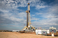 Drilling rig at a fracking site in Alva Oklahoma. Alva is in the norther western region of the state where fracking is done for oil.
