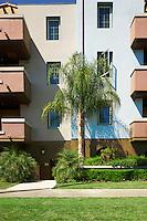 Condominium with Palm tree in Reseda, San Fernando Valley, Los Angeles, California.