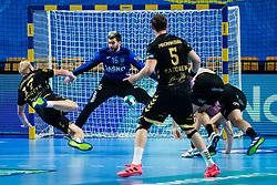 Miljan Vujovic  of RK Celje Pivovarna Lasko during handball match between RK Celje Pivovarna Lasko (SLO) and THW Kiel (GER) in Group Phase B of EHF Champions League 2020/21, on 1 October, 2020 in Arena Zlatorog, Celje, Slovenia. Photo by Grega Valancic / Sportida
