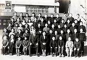 elementary school children group photo 1952 Japan