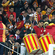 Galatasaray's supporters during their Turkish Super League soccer match Galatasaray between Bursaspor at the TT Arena at Seyrantepe in Istanbul Turkey on Sunday 16 October 2011. Photo by TURKPIX