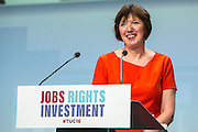 Frances O'Grady TUC General Secretary speaking at the TUC congress 2016, Brighton. UK.