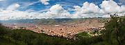 Overview from Saksaywaman, Cusco, Urubamba Province, Peru