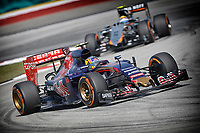 SAINZ carlos jr (spa) toro rosso str10 renault action during 2015 Formula 1 FIA world championship, Malaysia Grand Prix, at Sepang from March 27th to 30th. Photo Francois Flamand / DPPI