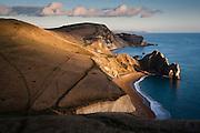 Durdle Door rock formation on the Jurassic Coast World Heritage Site, Dorset, UK.