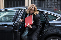 © Licensed to London News Pictures. 28/11/2017. London, UK. Secretary of State for International Development Penny Mordaunt arrives on Downing Street for the weekly Cabinet meeting. Photo credit: Rob Pinney/LNP
