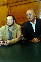 Boris Kagarlitsky, Director IPROG and George Galloway MP, <br /> at the Bishopsgate Institute, London<br /> October 13, 2005 <br /> BP Target Anglo-Russian Campaign meeting<br /> <br /> Photographer ELLIOTT FRANKS