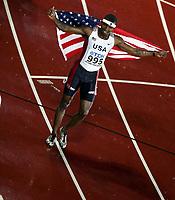 Friidrett, 9. august 2005, VM Helsinki, <br /> World Championships in Athletics<br /> Bershawn Jackson, USA winner 400 metres  hurdles