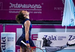 PORTOROZ, SLOVENIA - SEPTEMBER 19:  Winner Jasmine Paolini of Italy celebrates after playing Singles final during the WTA 250 Zavarovalnica Sava Portoroz at SRC Marina, on September 19, 2021 in Portoroz / Portorose, Slovenia. Photo by Vid Ponikvar / Sportida