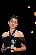 091721 69th San Sebastian International Film Festival: 'Marion Cotillard - Donostia Award