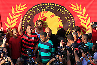 20090507: RIO DE JANEIRO, BRAZIL - Former football player from Internazionale Milan Adriano returns to his dream team Flamengo 8 years later. The player confessed he wants to play again at Brazil National Team. PHOTO: CITYFILES