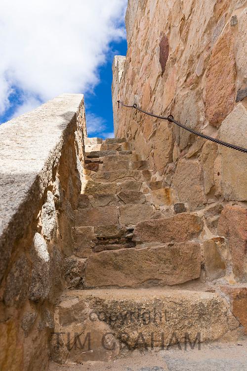 Stairway to heaven - old stone steps in Avila, Spain