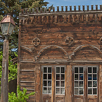 Old mining town buildings remain intact in Virginia City, a ghost town that was once the capital of Montana Territory.